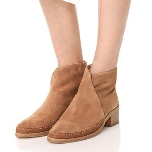 Soludos Venetian Short Brown Bootie